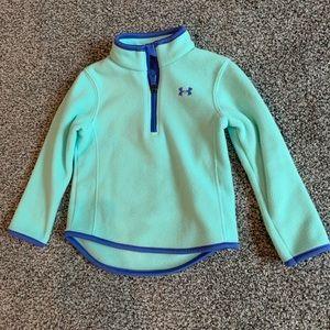 Under Armour teal half zip sweater